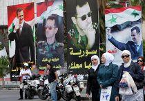 Предвыборная агитация в Дамаске, Сирия