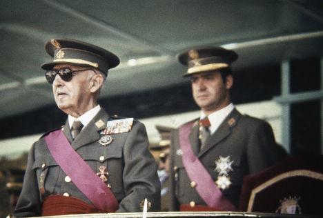 Франсиско Франко и будущий король Хуан Карлос в 1973 году
