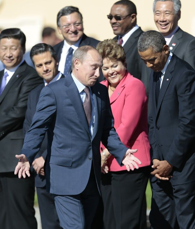 Владимир Путин и Барак Обама на саммите G20