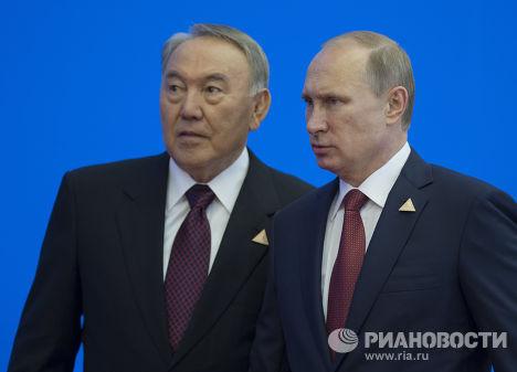 Владимир Путин и Нурсултан Назарбаев