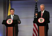 Вице-президент США Джо Байден и президент Колумбии Хуан Мануэль Сантос
