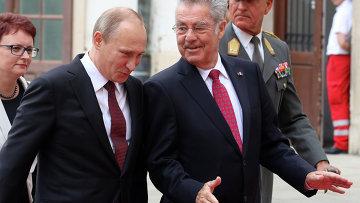 Владимир Путин и Хайнц Фишер