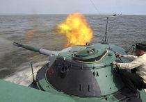 Учения батальона морской пехоты Каспийской флотилии