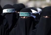 Траурное шествие в день поминовения имама Хусейна, Ашура, в городе Сана, Йемен