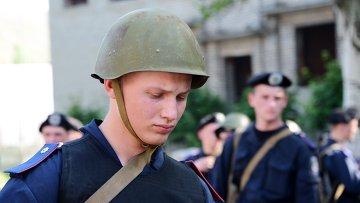 Военнослужащие национальной гвардии Украины