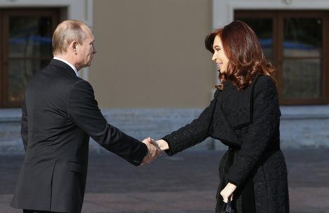 Владимир Путин и Кристина Киршнер на саммите G20