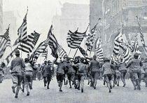 Демонстрация скаутов в Нью-Йорке по поводу вступления США в Первую мировую войну
