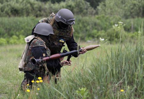 Солдаты из добровольческого батальона «Донбасс»