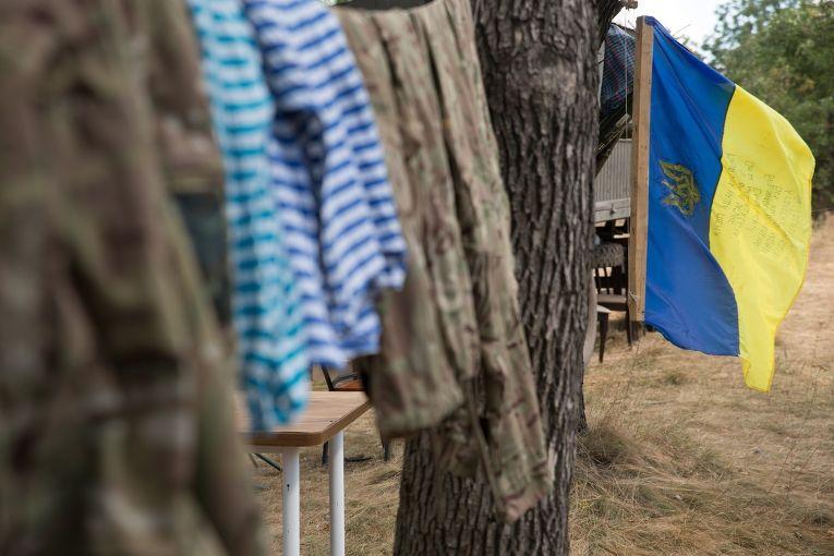 База украинской армии рядом с Донецком