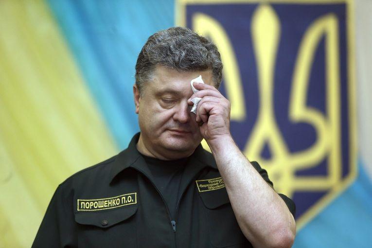 Президент Украины Петр Порошенко на пресс-конференции в Мариуполе