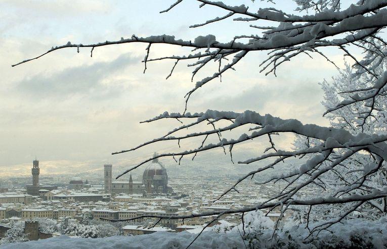 Занесенная снегом Флоренция