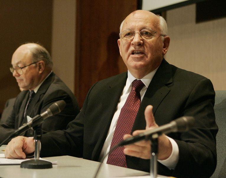 Михаил Горбачев и бывший посол США в СССР Джек Мэтлок