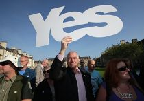 Акция в поддержку независимости Шотландии