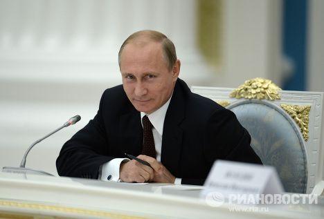 В.Путин провел встречу с избранными губернаторами субъектов РФ