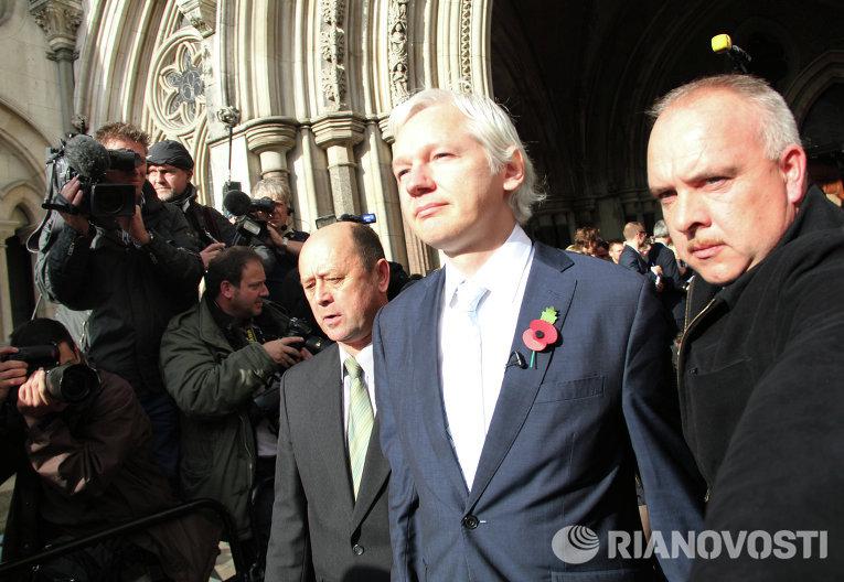 Основатель сайта Wikileaks Джулиан Ассанж
