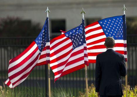 Барак Обама у здания Пентагона