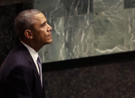 Барак Обама после выступления на 69-й сессии Генеральной Ассамблеи ООН