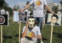 Акция протеста в поддержку Эдварда Сноудена