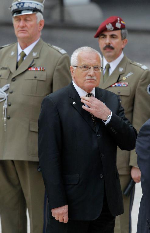 Президент Чехии Вацлав Клаус
