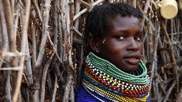 Народ туркана из Восточной Африки