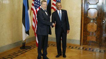 Встреча Барака Обамы с президентом Эстонии Тоомасом Хендриком Ильвесом в Таллине