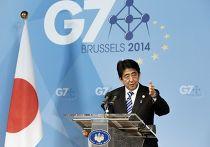 Премьер-министр Японии Синдзо Абэ на саммите G7 в Брюсселе
