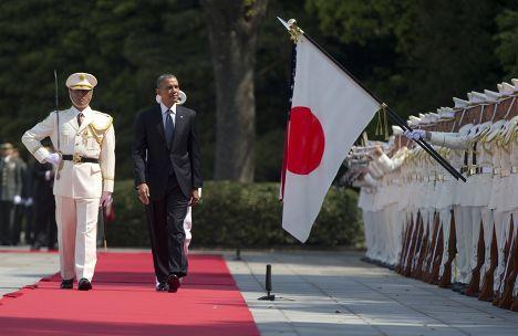 Барак Обама во время визита в Токио