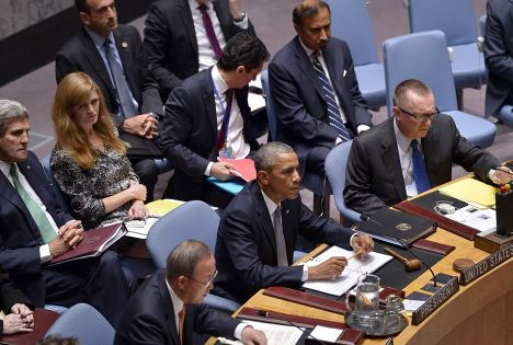 Заседание Совета Безопасности ООН во время 69-я сессии Генеральной Ассамблеи