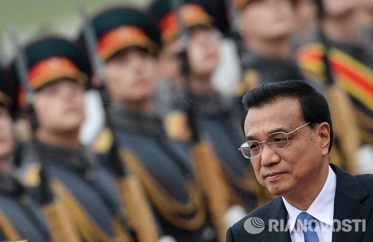 Прилет премьера Государственного совета КНР Ли Кэцяна