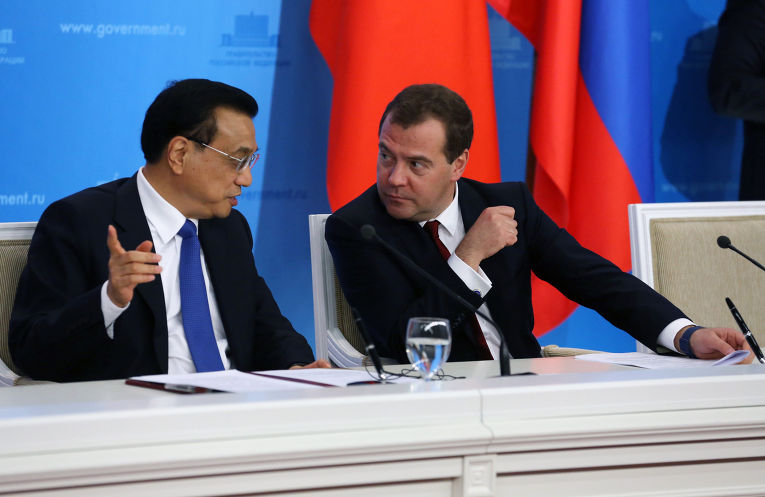 Встреча Д.Медведева с Ли Кэцяном