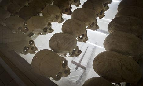 Памятник жертвам геноцида 1994 года в Руанде