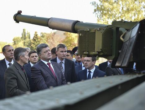 Петр Порошенко на Харьковском заводе имени Малышева