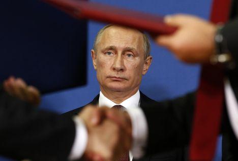 Владимир Путин во время визита в Белград