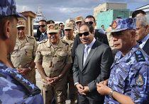 Президент Египта Абдул-Фаттах Ас-Сиси на военно-морских учениях в Александрии