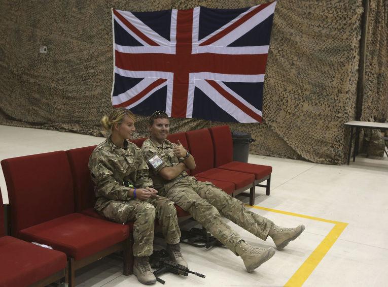 Британские солдаты на военной базе в Кандагаре