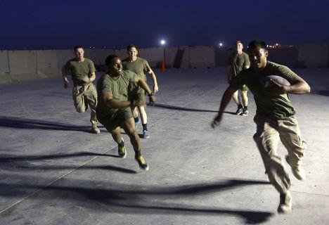 Американские солдаты на военной базе Camp Bastion в провинции Гильменд
