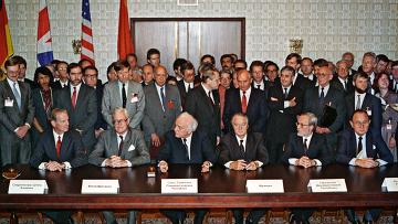 Встреча министров шести государств для подписания Договора об объединении Германии