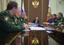 Владимир Путин проводит совещание в резиденции «Бочаров Ручей»