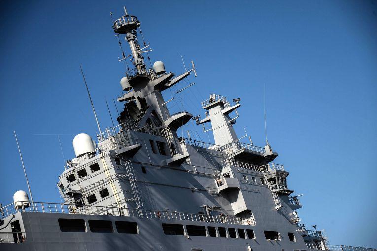 Десантный корабль «Владивосток» класса «Мистраль» в доках французской компании SNX France