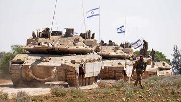 Израильские танки на границе Израиля и сектора Газа