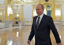 Президент России Владимир Путин перед началом оглашения ежегодного послания Федеральному Собранию