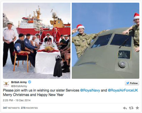Поздравление с Рождеством от Британской армии