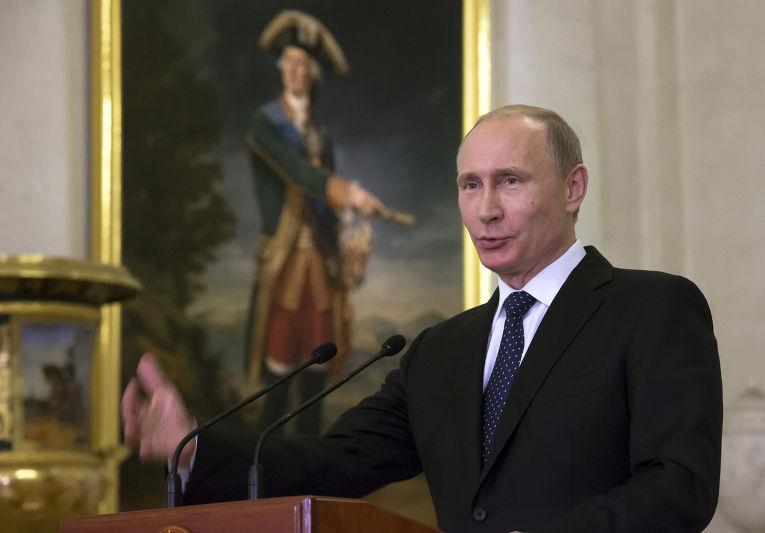Владимир Путин в Эрмитаже