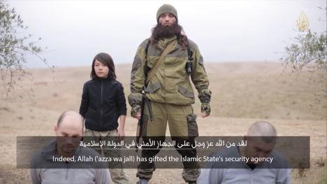 Казнь якобы российких шпионов боевиками Исламского государства