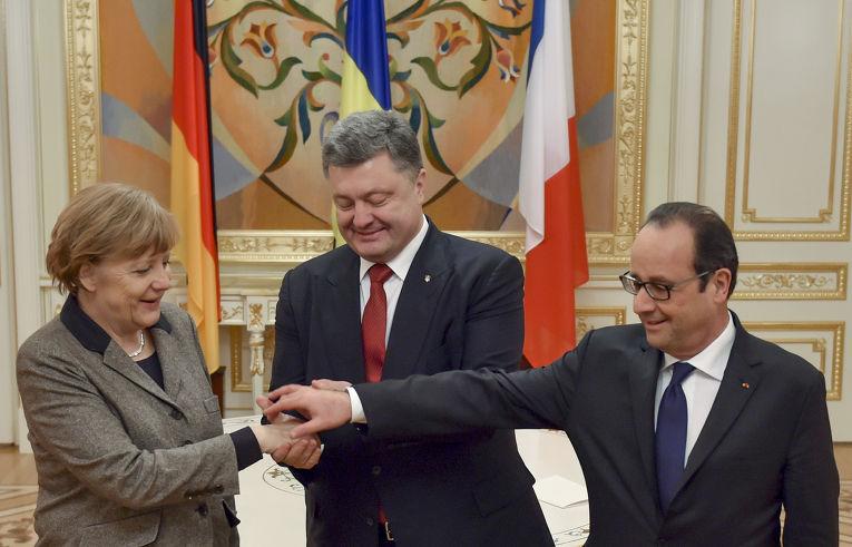 Визит Ангелы Меркель и Франсуа Олланда в Киев