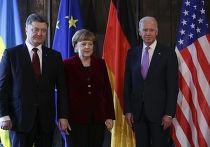 Петр Порошенко, Ангела Меркель и Джо Байден на Мюнхенской конференции