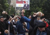 Протесты у посольства Катара в Каире