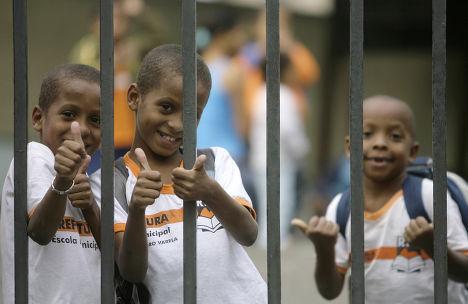 Школьники в Рио-де-Жанейро