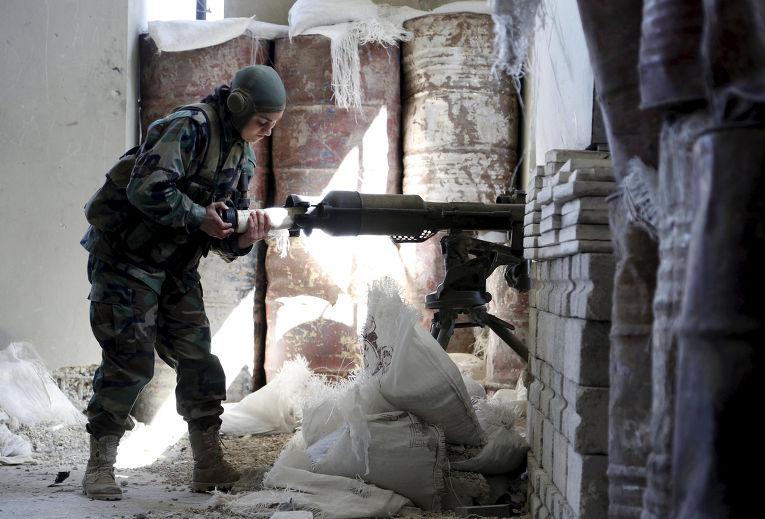 Женский батальон сирийской армии