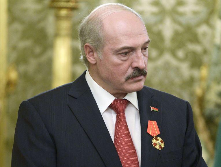 Президент Белоруссии Александр Лукашенко перед заседанием Высшего государственного совета Союзного государства России и Белоруссии в Москве